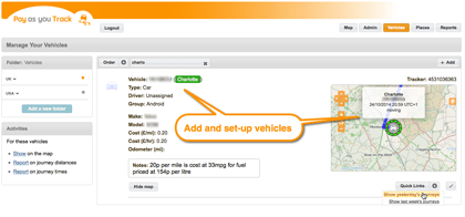 flexible vehicle tracking